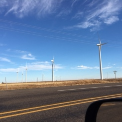 Wind farms as far as you can see