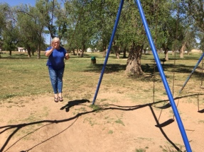 Elaine Swinging at Lamesa