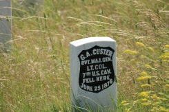 Custer Tombstone