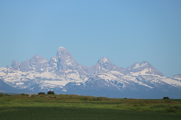 Grand Tetons from RV Campsite