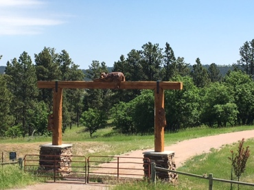 Ranch Entrance on way to Devils Tower