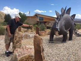 Lewis Feeding a Stegosaurus