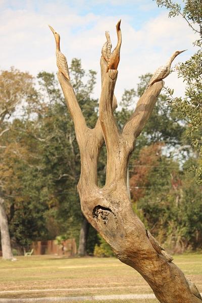 Carved Cranes