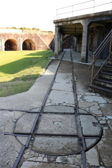 Fort Morgan Tracks for Moving Guns