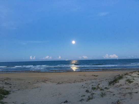 Full Moon over South Padre