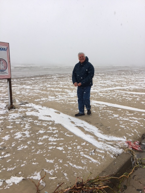 Snow on South Padre Beach